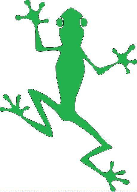 Frog tribal amphibian water art sticker decal vinyl 226