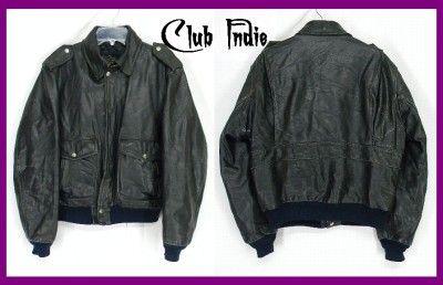 VTG Black HARLEY DAVIDSON Leather MOTORCYCLE Jacket S/M