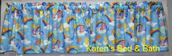 Care Bears Blue Baby Boy Girl Nursery Curtain Valance