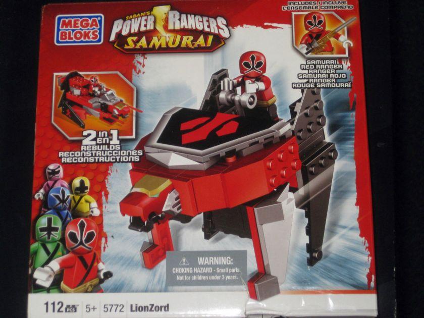 Mega Bloks 5772   Power Rangers Samurai   Red Ranger LionZord