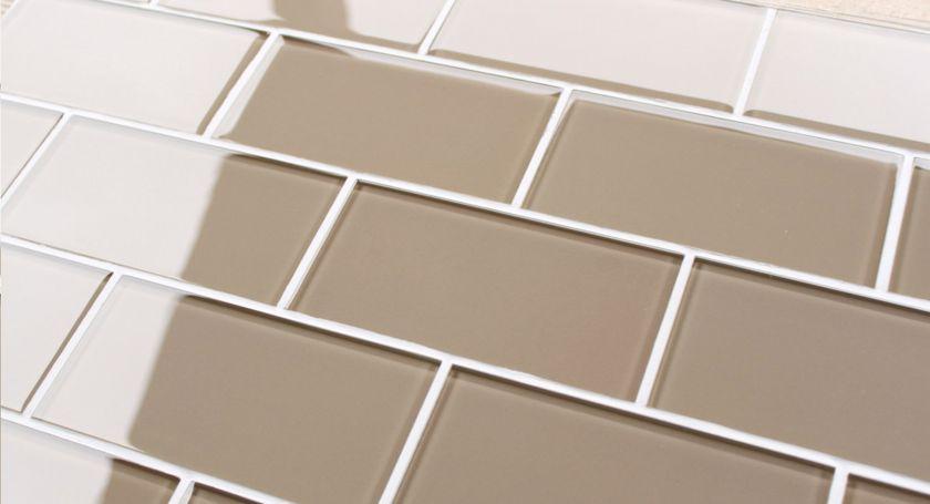 Sand brown 3x6 glass subway tile kitchen backsplash wall bathroom
